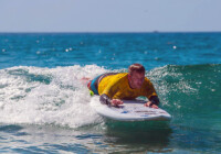 Island Inspired Adaptive Surf Board In Use 2
