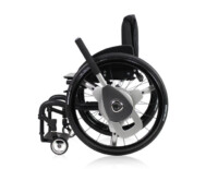 NuDrive Air on a wheelchair